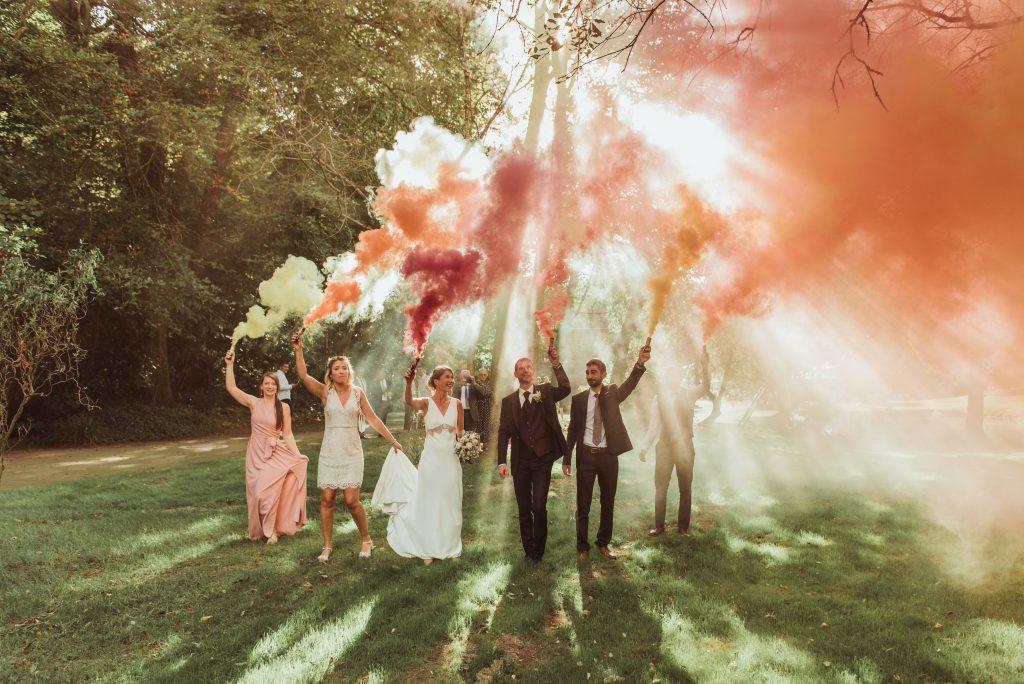 Photo d'un mariage de la photographe LD Photographie au Moulin du Ponchou à Bohars  proche de Brest dans le Finistère