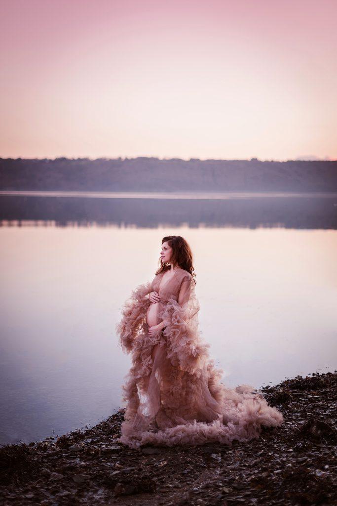 séance photo grossesse extérieur robe créatrice