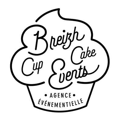 Logo du prestataire weeding planner organisateur de mariage Breizh Cup Cake Events en Bretagne dans le Finistère