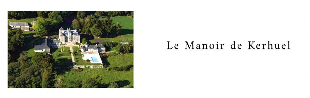 Photo au drone du prestataire d'un lieu de réception : le Manoir de Kerhuel dans le Finistère en Bretagne